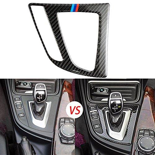 /// Color Real Carbon Fiber Gear Shift Panel Interior Trim Sticker for BMW 3 4 Series