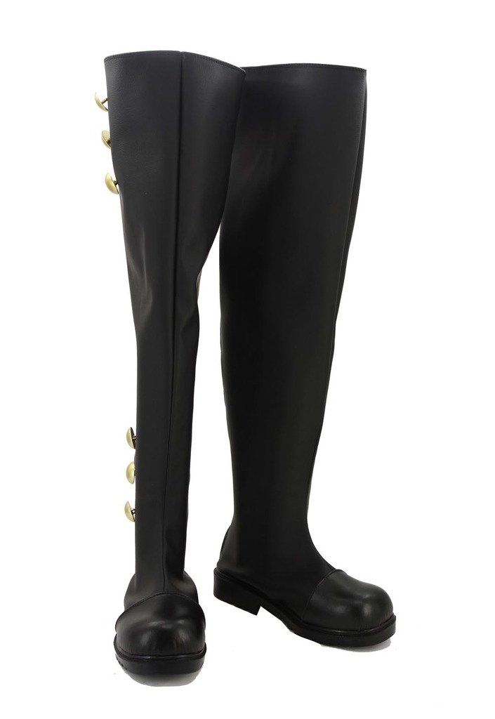 Fuman Seraph of the end Ferid Bathory Stiefel Karneval Schuhe cosplay Stiefel Herren Schwarz Maßanfertigung
