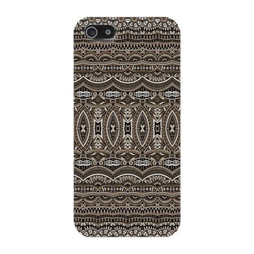 Brown Aztec Tribal Phone Case Custom Well-designed Hard Case Cover Protector For Iphone 5 5s (5 Case Iphone Rome)