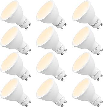 Bombillas Focos de LED GU10 Regulables 7W 650Lm Equivalente a 60W ...