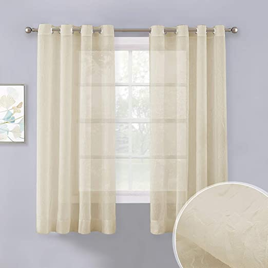 "Blanco 108 /""H Terciopelo Panel De Cortina w//grommet Top Ojales ventana tratamiento Cortinas"