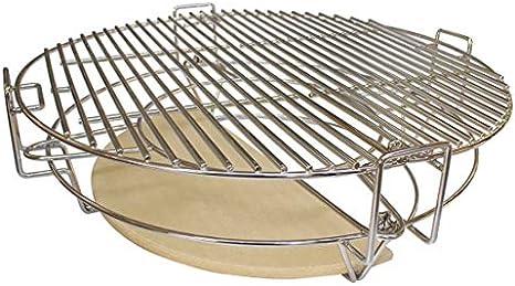 YNNI Kamado TQDC20 Système de séparation et de conquérir pour grilles de diamètre extérieur 50,8 cm 6 pièces avec support de casserole Kamado Grill