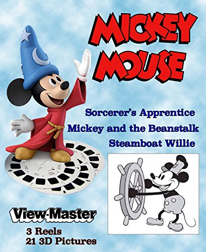 Mickey Mouse - FANTASY - Classic ViewMaster - 3 Reel on Card - Unopened and PRISTINE by 3Dstereo ViewMaster (Image #1)