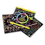 """Melissa & Doug Scratch Art Doodle Pad Book, Arts & Crafts, Mini Stylus Included, Easy to Use, 16 Spiral-Bound Pages, 5.5"""" H x 5.5"""" W x 0.75"""" L"""
