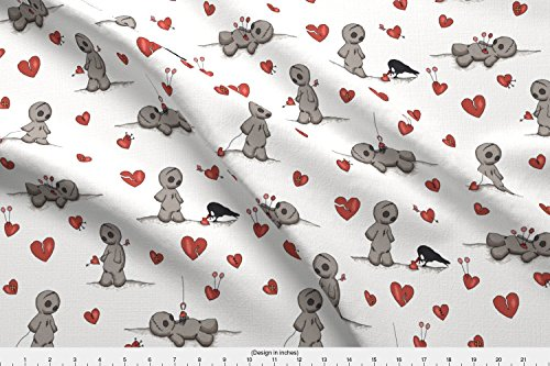 Voodoo Dolls Clothes - Spoonflower Voodoo Doll Fabric Julie's Voodoodolls - Half Size by Juliesfabrics Printed on Satin Fabric by the Yard