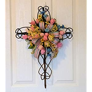 Custom Cemetery Cross, Custom Grave Cross with Flowers, Cemetery Cross with Flowers 87