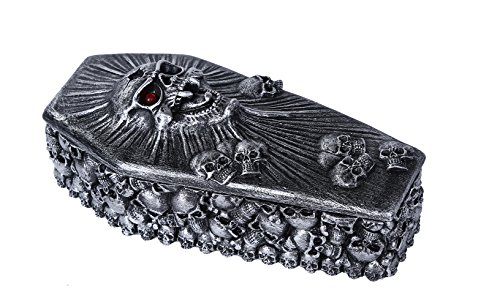 Pacific Giftware Spirit Skull Ossuary Style Coffin Lidded Trinket Box 6.75 inch L ()