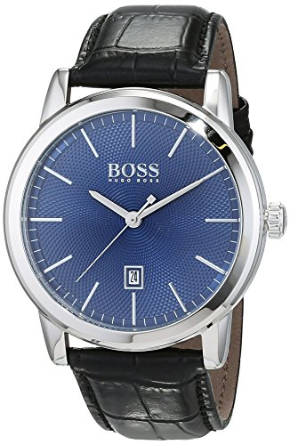 HUGO BOSS Men's Analogue Quartz Watch with Leather Strap – 1513400
