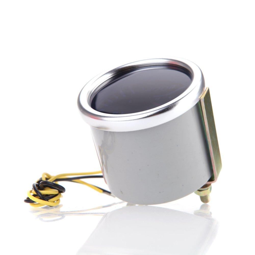 kkmoon Volt Gauge 5,1/cm 52/mm Auto Bar Boost Gauge Universal Smoke Objektiv Indikator wei/ß Meter