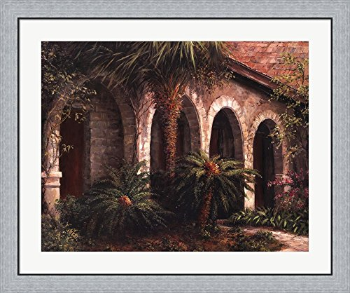 Sago Arches by Art Fronckowiak Framed Art Print Wall Picture, Flat Silver Frame, 36 x 30 inches (Sago Arches)