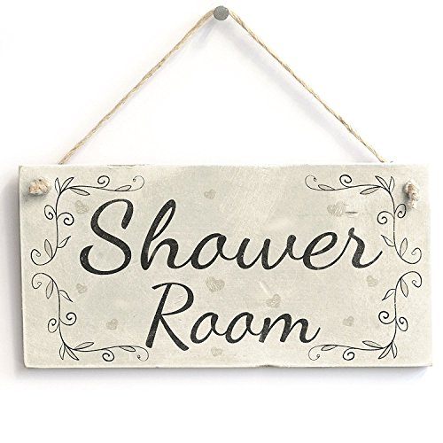 Meijiafei Shower Room - Vintage Home Decor PVC Door Sign/Plaque for Bathroom 10