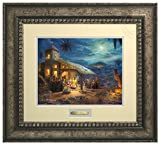 The Nativity Thomas Kinkade Prestige Home Collection (Antiqued Silver)