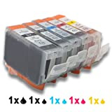 5x Chipped Compatible Ink Cartridge