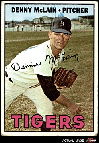 1967 Topps # 420 Denny McLain Detroit Tigers (Baseball Card) Dean's Cards 1 - POOR Tigers