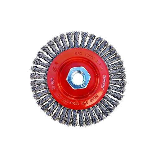 Taipan Abrasives TO-3002 Original Stringer Bead Twist Knot MS Wire Wheel Brush, 0.020