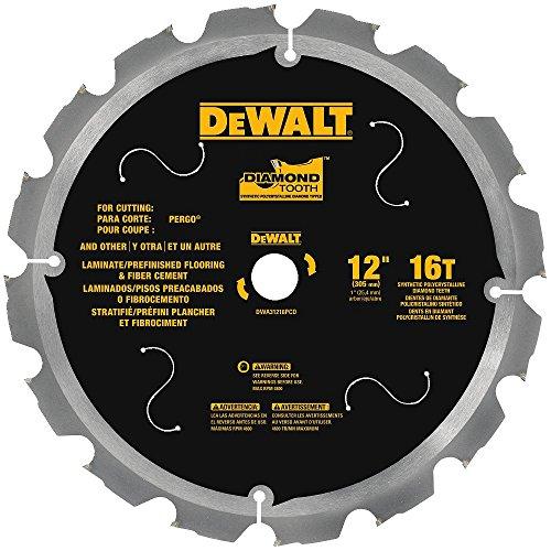 Laminate Cutting Blades - DEWALT DWA31216PCD 16T PCD Tipped Laminate Cutting Blade, 12