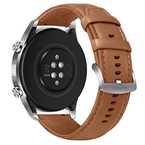 """Huawei Watch GT2 - Smartwatch con Caja de 46 Mm (Pantalla Táctil Amoled de 1.39"""", GPS, 15 Modos Deportivos, Llamadas Bluetooth), marrón"""