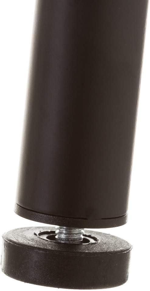 Appendiabiti da Pavimento in Metallo Nero Moderno per Ufficio Lolahome 183 cm