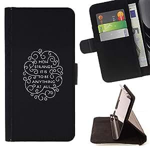 Momo Phone Case / Flip Funda de Cuero Case Cover - Qué extraño es;;;;;;;; - HTC One M9