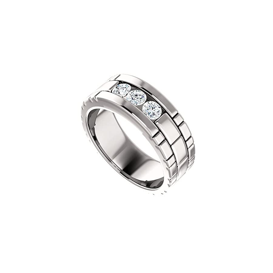 0.45 ct Ladies Round Cut Eternity Wedding Band Diamond Ring( Color G Clarity SI1) Platinum
