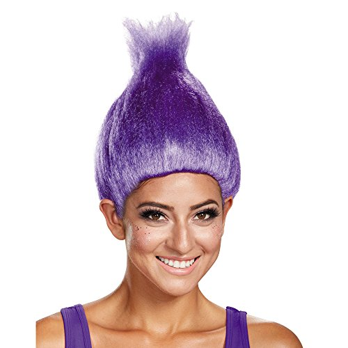 [Disguise Women's Colored Licensed Adult Troll Wig, Purple, One Size] (Purple Wig Costumes)