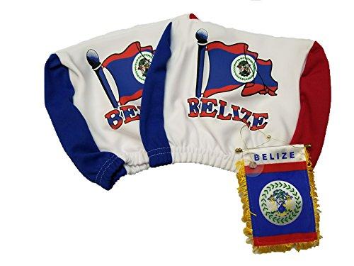 3pcs Belize Headrest Cover Flag Fits trucks, Car w/ Belizean