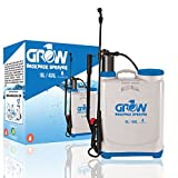 Grow1 4 Gallon Plant Grow Hydroponics Backpack Pressure Pump Sprayer