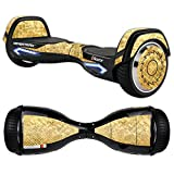 MightySkins Protective Vinyl Skin Decal for Razor Hovertrax 2.0 Hover Board Self-Balancing Smart Scooter wrap cover sticker skins Gold Tiles