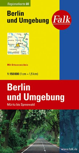 Falk Regionalkarte Berlin und Umgebung 1:150 000 Müritz bis Spreewald