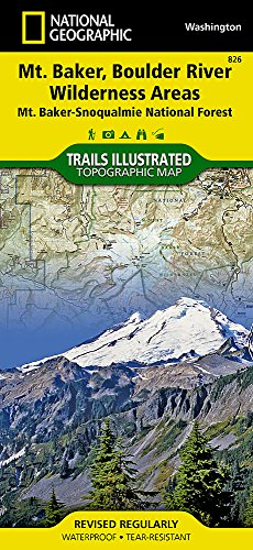 (Mount Baker and Boulder River Wilderness Areas [Mt. Baker-Snoqualmie National Forest] (National Geographic Trails Illustrated Map) )
