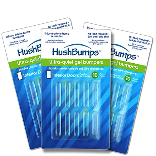 HushBumps Ultra-Quiet Bumpers for Interior Doors 3-Pack. Specialized Design Delivers Quiet Operation to Interior Doors. Just Peel & Stick. No Tools Required. Provides Soft and Quiet Close. 30 pcs.
