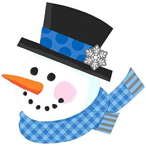 Amscan Happy Snowman Printed Cutout Christmas Decoration, 15