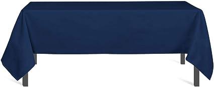 Image ofSoleil d'ocre 817240 Mantel Antimanchas Rectangular 140x240 cm Alix Azul Marino