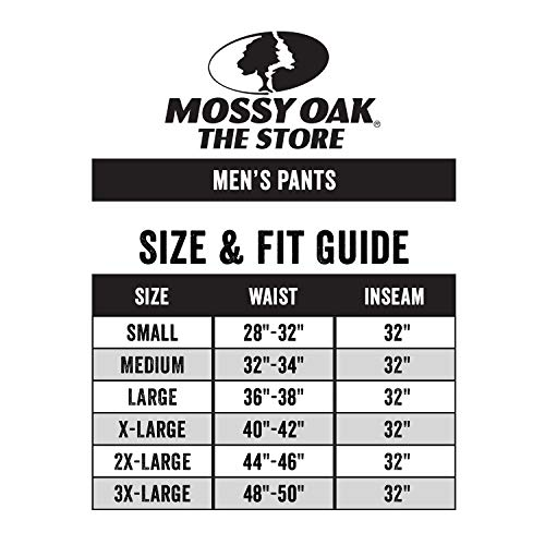 Mossy Oak Men's Cotton Mill 2.0 Camouflage Hunting Pant in Multiple Camo Patterns from Mossy Oak