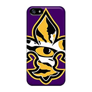 Shockproof Cell-phone Hard Covers For Apple Iphone 5/5s With Provide Private Custom Fashion Lsu Tiger Eye Pattern KimberleyBoyes