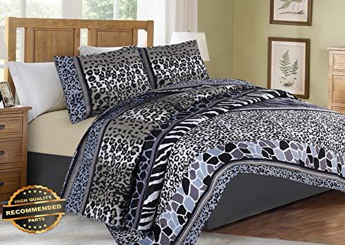 Werrox Soft Coverlet Bedspread 2/3 PC Quilt Set Zebra Leopard Giraffe Design Animal #6 Twin Size   Quilt Style QLTR-291267185