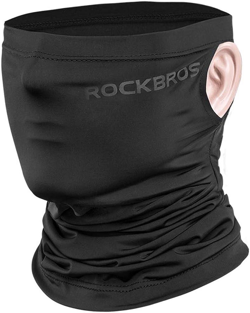 ROCK BROS Cooling Neck Gaiter Face Mask Bandana Face Scarf UPF50+ UV Protection Fishing Mask