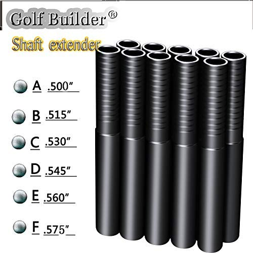 Golf Builder 10pcs Steel Golf Shaft Extension Golf Shaft Extender (.560)