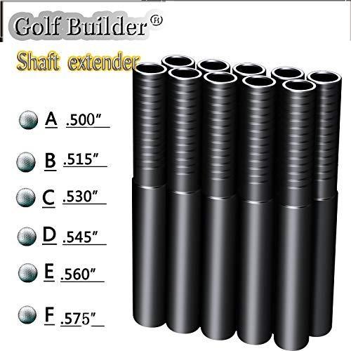 Golf Builder ゴルフシャフト エクステンダー 10個 スチールまたはグラファイト 6サイズ B07J53CFBP  .515 Graphite X 10pcs