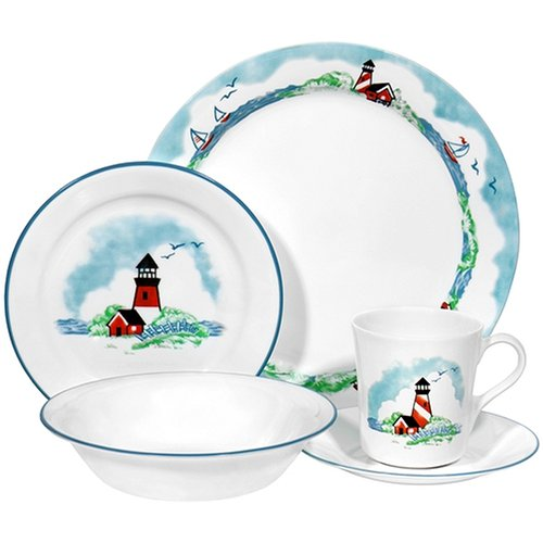Amazoncom Corelle Livingware 20 Piece Dinnerware Set Service For