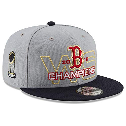 New Era Boston Red Sox 2018 MLB World Series Grey 9FIFTY Snapback Cap Hat (Sox Hat World Series Red)