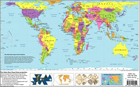 The hobo dyer equal area projection world map inc odt the hobo dyer equal area projection world map inc odt 9781931057110 amazon books gumiabroncs Gallery