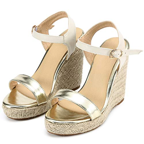 43f7b7fcabb Amazon.com: Veodhekai Womens High Heel Wedge Sandals Sparkly ...