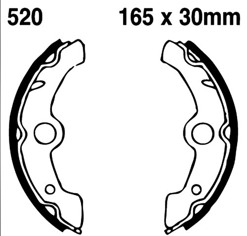 EBC Brakes 312G Water Grooved Brake Shoe