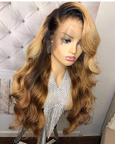 13×6 Lace Front human hair wigs Brazilian Virgin Human Hair Body Wave Ombre 1B/27 Glueless Human Hair Wigs for Women 150% Density