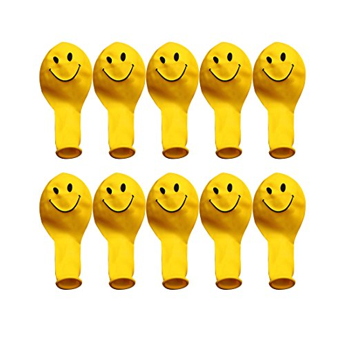 dufu-beauty-store 10Pcs Yellow Smiley Face Latex Balloons ()