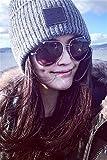 Generic c solid color wool cap smile