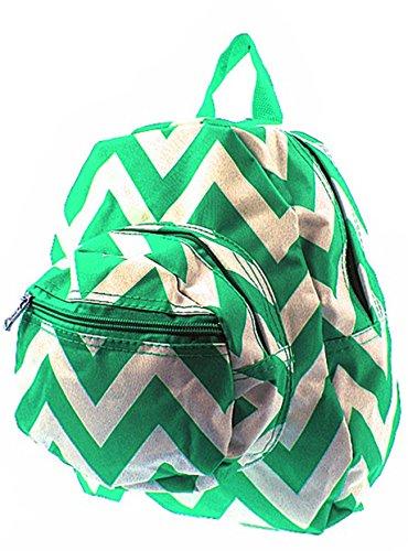 Chevron Small Kids Backpack Toddler Bag Purse (Dark Green)