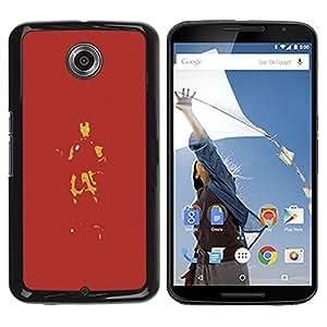 YiPhone /// Prima de resorte delgada de la cubierta del caso de Shell Armor - Hierro rojo Superhero - NEXUS 6 / X / Moto X Pro