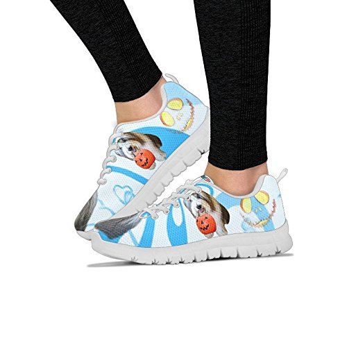 Women's Your Shoes Casual Breed Sneakers All Collie Bearded Halloween Print Choose Running Women's Dog FvZwwX